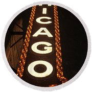 Looking Up Chicago Round Beach Towel
