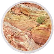 Looking Up From Wash 3 In Valley Of Fire Round Beach Towel