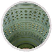 Looking Up In Union Station -- A Westward View Round Beach Towel