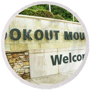Lookout Mountain Round Beach Towel