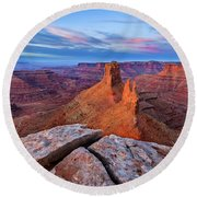 Lookout Point Sunrise Round Beach Towel