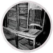 Loomis Ranch Chair Round Beach Towel