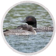 Loon Lullaby Round Beach Towel