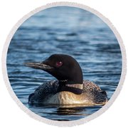 Loon Profile Round Beach Towel