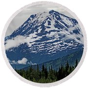 Looned View Round Beach Towel