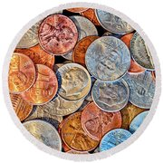 Loose Change Round Beach Towel