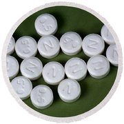 Lorazepam 0.5 Mg Tablets Round Beach Towel