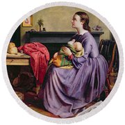 Lord - Thy Will Be Done Round Beach Towel by Philip Hermogenes Calderon