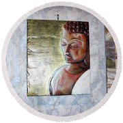 Lord Buddha Round Beach Towel