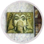 Lord Ganesha Round Beach Towel
