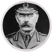 Lord Herbert Kitchener Round Beach Towel
