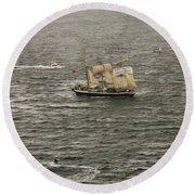 Lord Nelson Enters Sydney Harbour Round Beach Towel