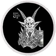 Lord Of The Goats Round Beach Towel
