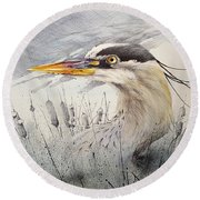 Lord Of The Marsh Round Beach Towel