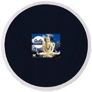 Lord Shiva Round Beach Towel