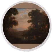 Lorena, Claudio De Chamagne, 1600 - Roma, 1682 Ford Of A River Ca. 1636 Round Beach Towel