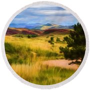 Lory State Park Impression Round Beach Towel