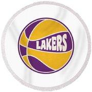 Los Angeles Lakers Retro Shirt Round Beach Towel