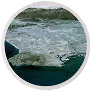Los Angeles, Radar Image Round Beach Towel by NASA / Science Source
