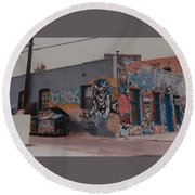 Los Angeles Urban Art Round Beach Towel