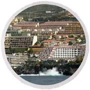 Los Gigantes From The Sea Round Beach Towel