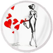 Lose  Your Heart Round Beach Towel