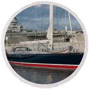 Lost At The Battle Of Midway June 1942 Round Beach Towel