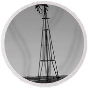 Lost Breeze Round Beach Towel