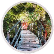 Lost Bridge Round Beach Towel