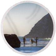 Lost Coast Surfers Round Beach Towel