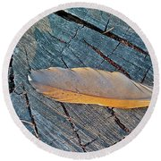 Lost Feather Round Beach Towel