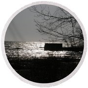 Lost For Words Round Beach Towel