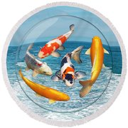 Lost In A Daydream - Fish Out Of Water Round Beach Towel