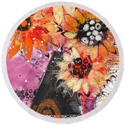 Lost In A Moment Round Beach Towel