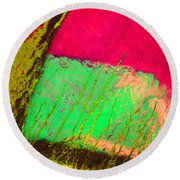 Lost In Colour Round Beach Towel