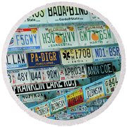 Lost In Plates Round Beach Towel
