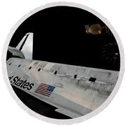 Lost In Space Round Beach Towel