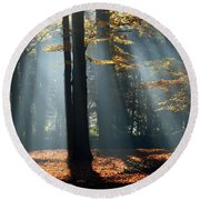 Lost In The Light Round Beach Towel
