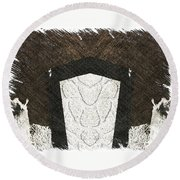 Lost In The Stars  Round Beach Towel
