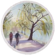 Lost Lagoon Round Beach Towel
