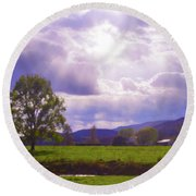 Lost River Heavens Round Beach Towel
