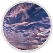 Lost River Sky Round Beach Towel