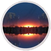 Lost World Reflections Round Beach Towel