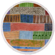 Several Acres Of Land Round Beach Towel