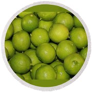 Lots Of Limes Round Beach Towel