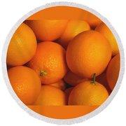 Lots Of Oranges Round Beach Towel