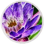 Lotus Close-up Round Beach Towel