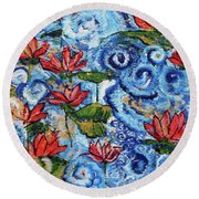 Lotus Cloud Sea 201759 Round Beach Towel