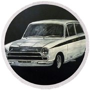 Lotus Cortina Round Beach Towel