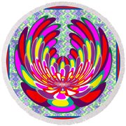 Lotus Flower Stunning Colors Abstract  Artistic Presentation By Navinjoshi Round Beach Towel
